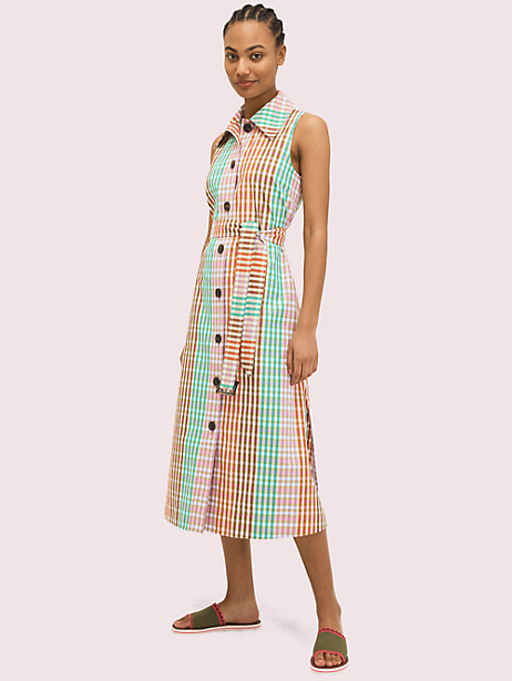 rainbow plaid shirtdress by kate spade new york