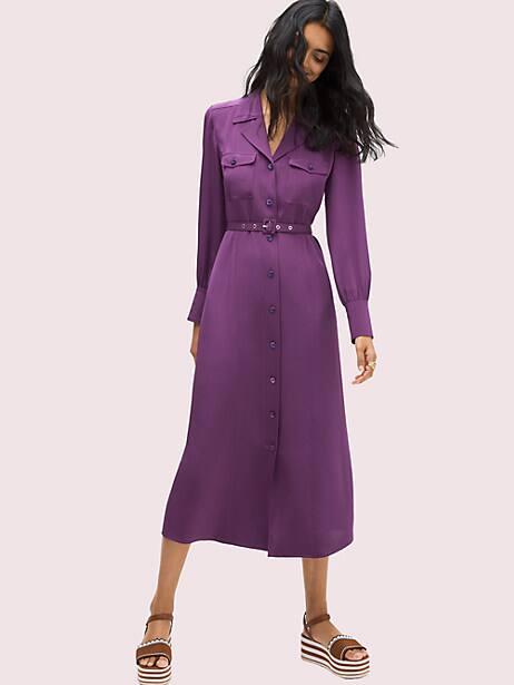 Silk pocket shirtdress | Kate Spade New York