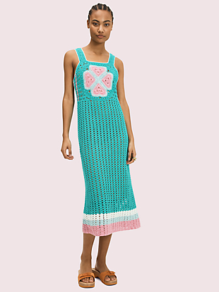 spade flower crochet dress by kate spade new york non-hover view