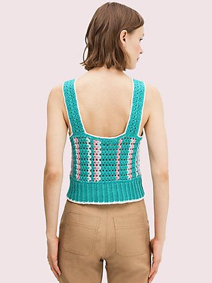 spade flower crochet top by kate spade new york hover view