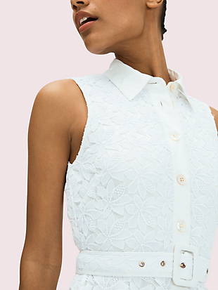 leaf lace dress by kate spade new york hover view
