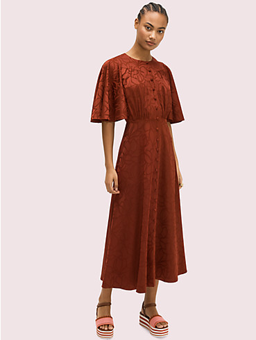 scribble flora jacquard dress, , rr_productgrid