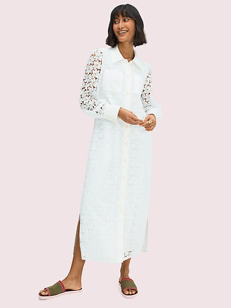 leaf lace shirtdress by kate spade new york