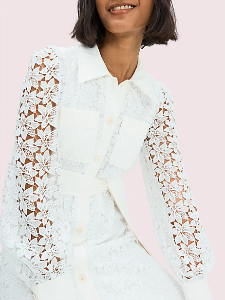 Leaf lace shirtdress | Kate Spade New York