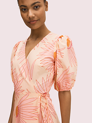 falling flower wrap dress by kate spade new york hover view