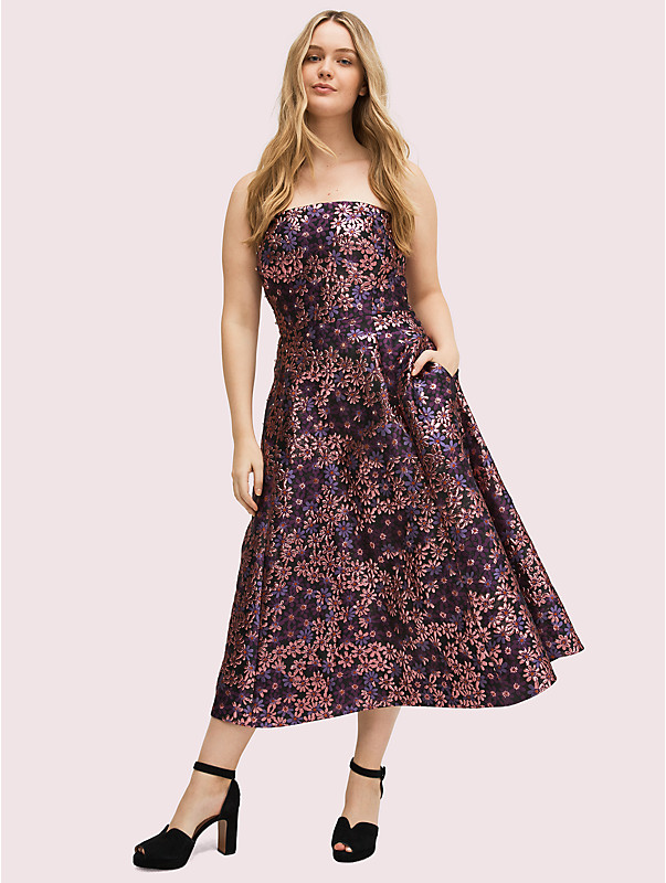 Pacific petals Schulterfreies Kleid, , rr_large