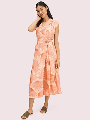 falling flower jacquard dress by kate spade new york non-hover view