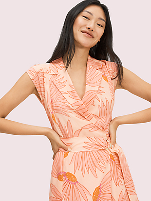 falling flower jacquard dress by kate spade new york hover view