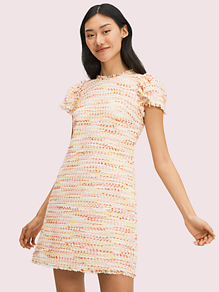 multi tweed shift dress by kate spade new york non-hover view