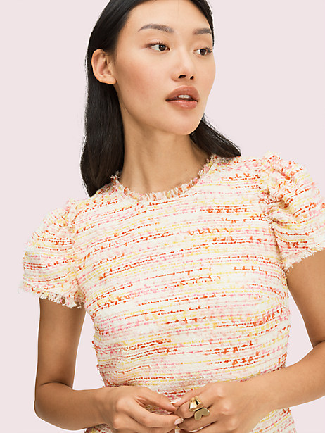 Multi tweed shift dress | Kate Spade New York