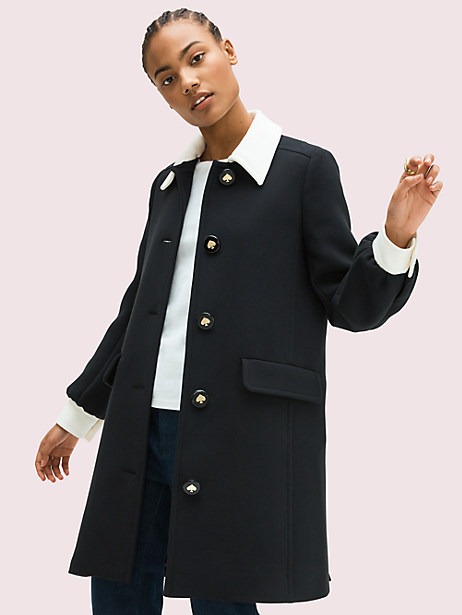 colorblock coat by kate spade new york