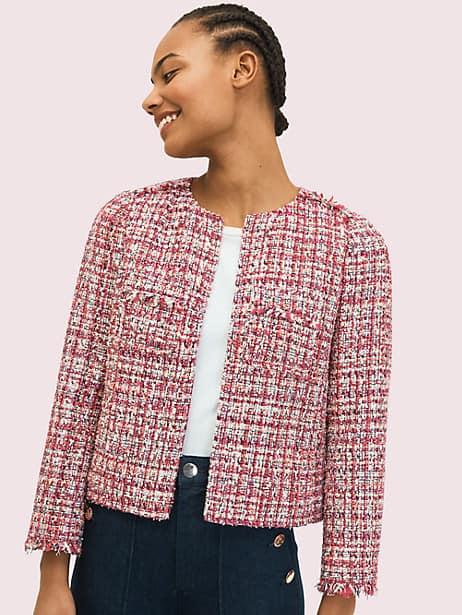 textured tweed jacket by kate spade new york