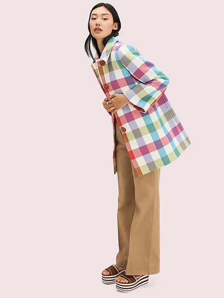 Bold plaid coat | Kate Spade New York