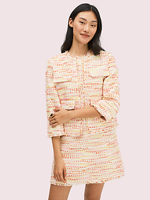 multi tweed jacket by kate spade new york non-hover view