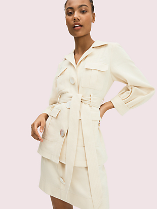 luxe twill jacket by kate spade new york non-hover view