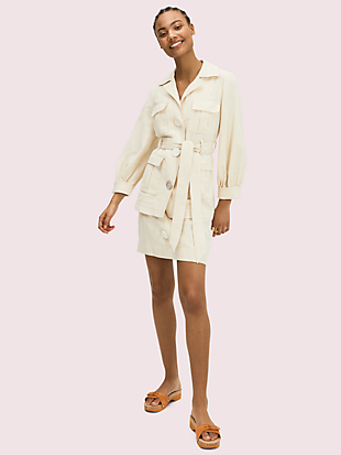 luxe twill jacket by kate spade new york hover view