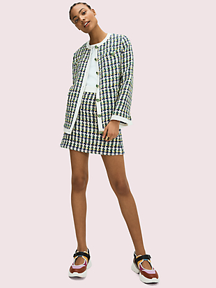 pop tweed skirt by kate spade new york hover view