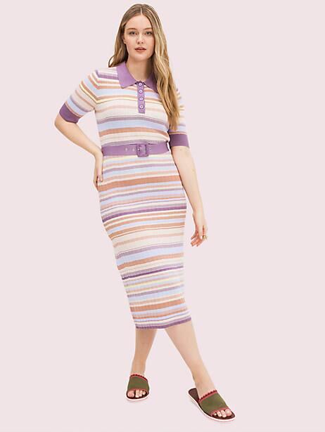 Multi-stripe polo knit dress   Kate Spade New York