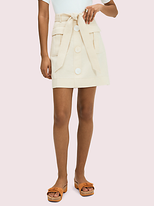 luxe twill skirt by kate spade new york non-hover view