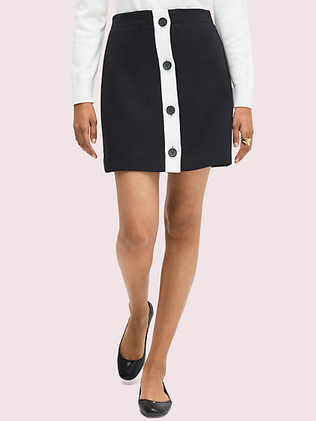 colorblock button-through skirt by kate spade new york