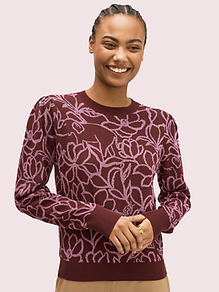 scribble flora sweater by kate spade new york non-hover view
