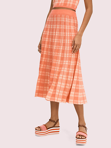 plaid knit skirt by kate spade new york