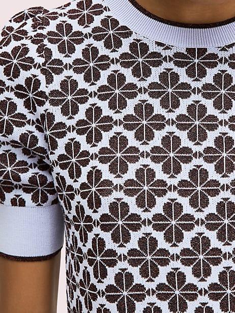 Spade flower puff sleeve sweater | Kate Spade New York