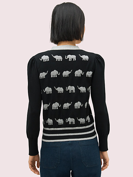 Elephant v-neck cardigan   Kate Spade New York
