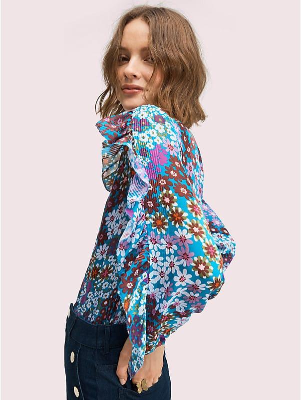 pacific petals chiffon blouse, , rr_large
