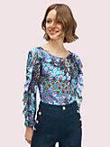 pacific petals chiffon blouse, , s7productThumbnail