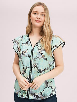dahlia bloom burnout top by kate spade new york hover view