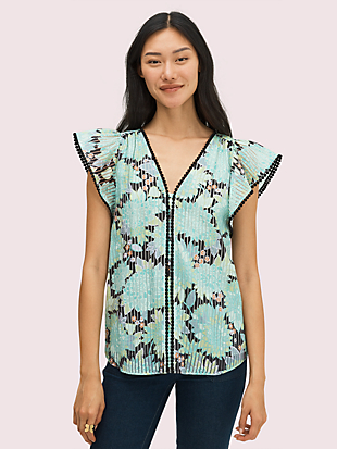 dahlia bloom burnout top by kate spade new york non-hover view