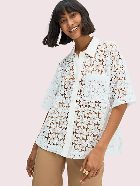 leaf lace blouse by kate spade new york
