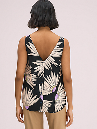 falling flower sleeveless top by kate spade new york hover view