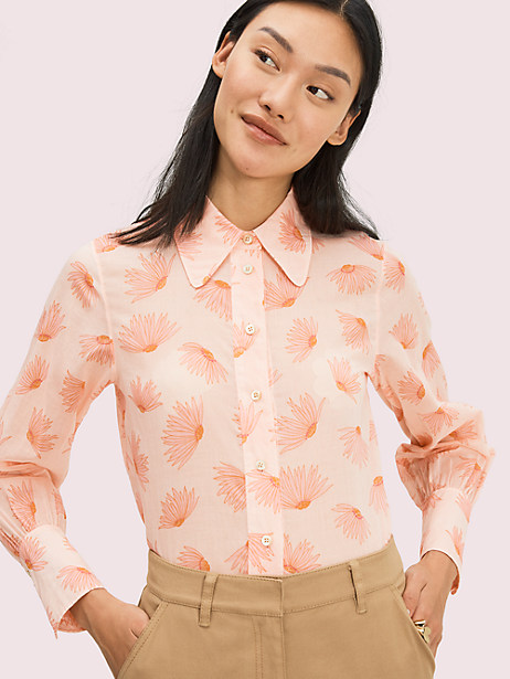 falling flower voile blouse by kate spade new york