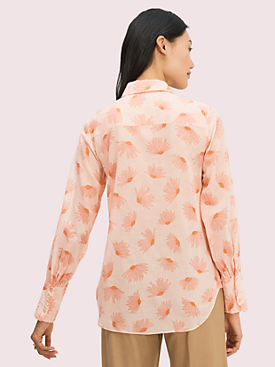 falling flower voile blouse by kate spade new york hover view