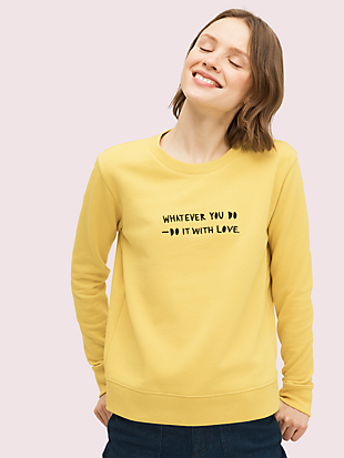 cleo wade x kate spade new york do it with love pullover by kate spade new york non-hover view