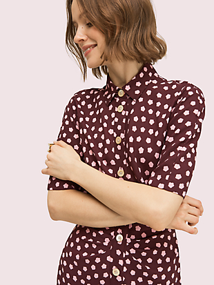 cloud dot shirtdress by kate spade new york hover view