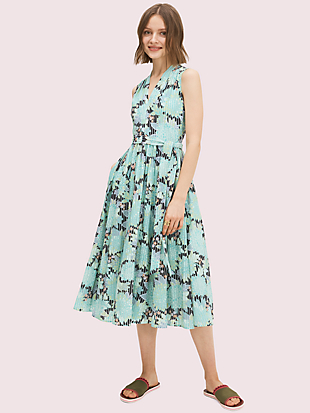 dahlia bloom burnout dress by kate spade new york non-hover view
