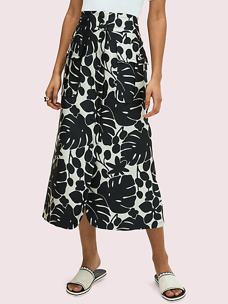 monstera grove jacquard skirt by kate spade new york