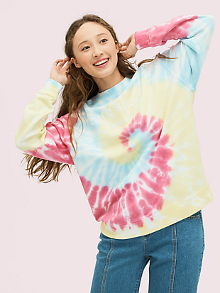 logo tie-dye sweatshirt by kate spade new york non-hover view
