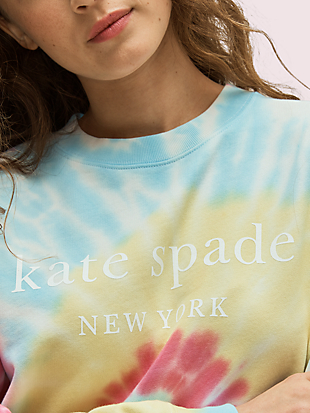 logo tie-dye sweatshirt by kate spade new york hover view