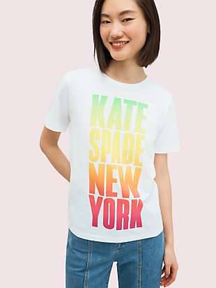 rainbow logo tee by kate spade new york non-hover view