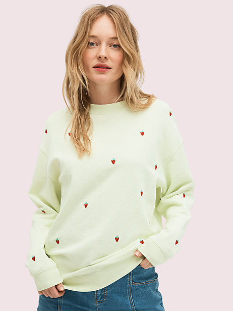 embroidered berry sweatshirt by kate spade new york
