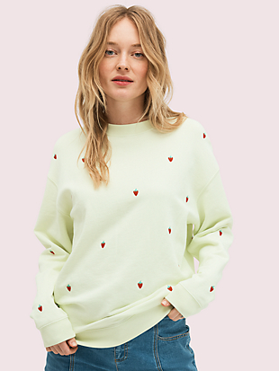 embroidered berry sweatshirt by kate spade new york non-hover view