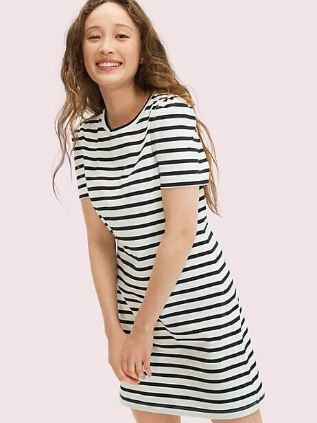 Striped puff-sleeve dress   Kate Spade New York