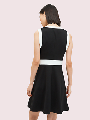 contrast panel ponte dress by kate spade new york hover view