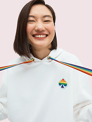 spade rainbow hoodie by kate spade new york hover view