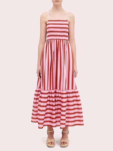 calais stripe smocked dress by kate spade new york