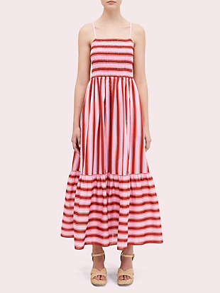 calais stripe smocked dress by kate spade new york non-hover view